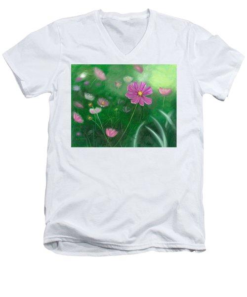 Cosmos Flowers Men's V-Neck T-Shirt