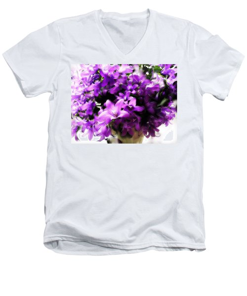 Dreamy Flowers Men's V-Neck T-Shirt by Gabriella Weninger - David