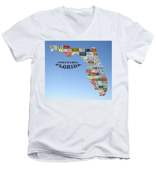 Driving Florida Men's V-Neck T-Shirt