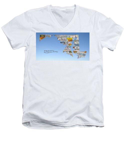 Driving Maryland Men's V-Neck T-Shirt