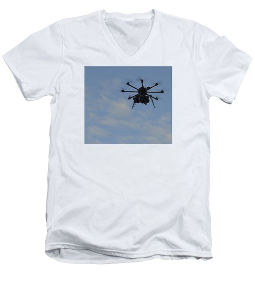 Men's V-Neck T-Shirt featuring the photograph Drone by Linda Geiger