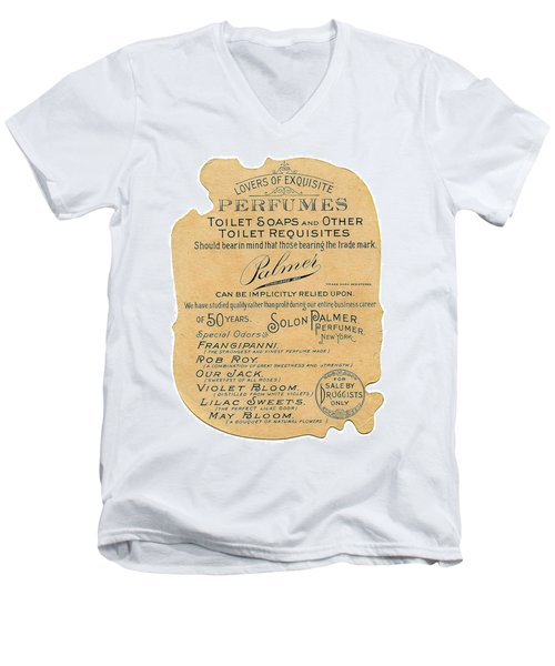 Men's V-Neck T-Shirt featuring the photograph Druggists by ReInVintaged