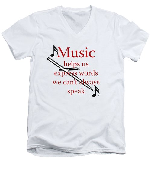 Drum Music Helps Us Express Words Men's V-Neck T-Shirt