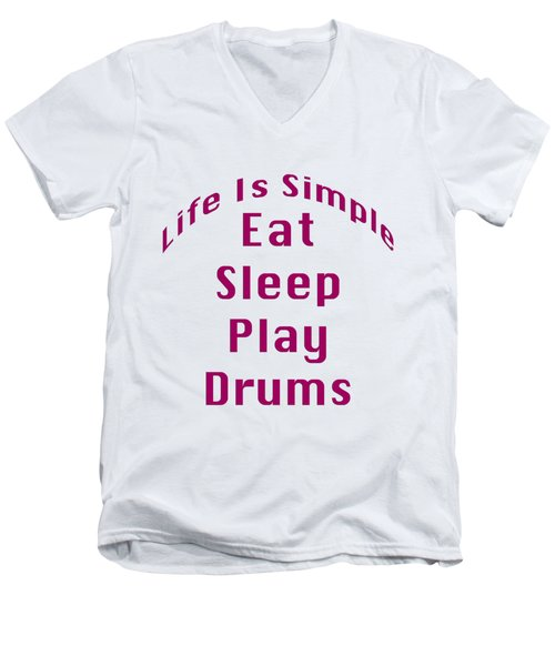 Drums Eat Sleep Play Drums 5514.02 Men's V-Neck T-Shirt