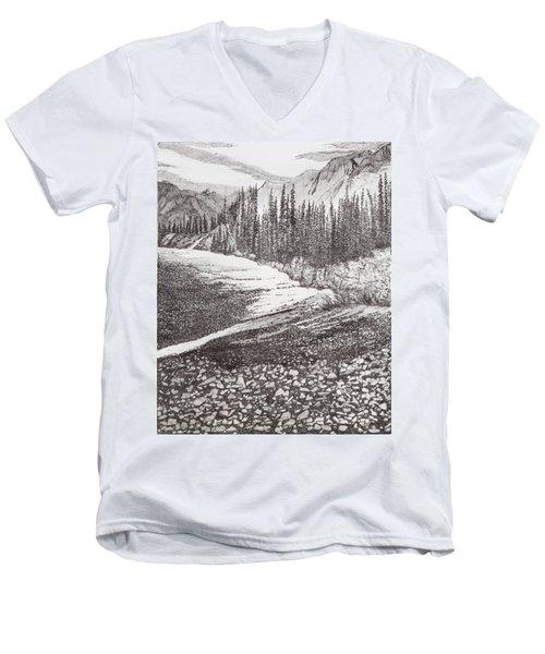 Dry Riverbed Men's V-Neck T-Shirt