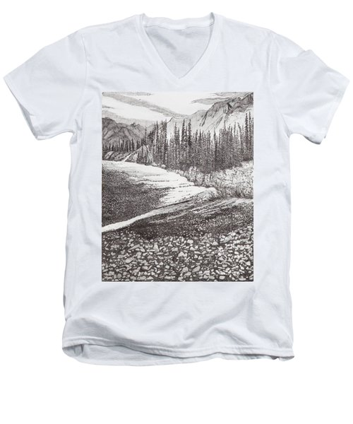 Dry Riverbed Men's V-Neck T-Shirt
