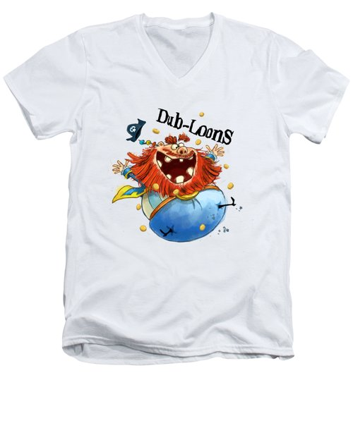 Dub-loons Men's V-Neck T-Shirt by Andy Catling