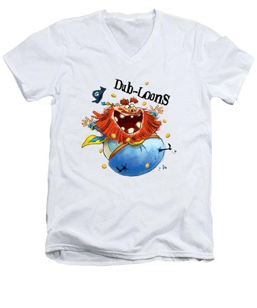 Dub-loons Men's V-Neck T-Shirt