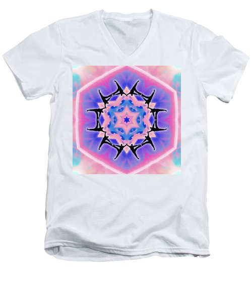 Men's V-Neck T-Shirt featuring the digital art Dublife by Derek Gedney