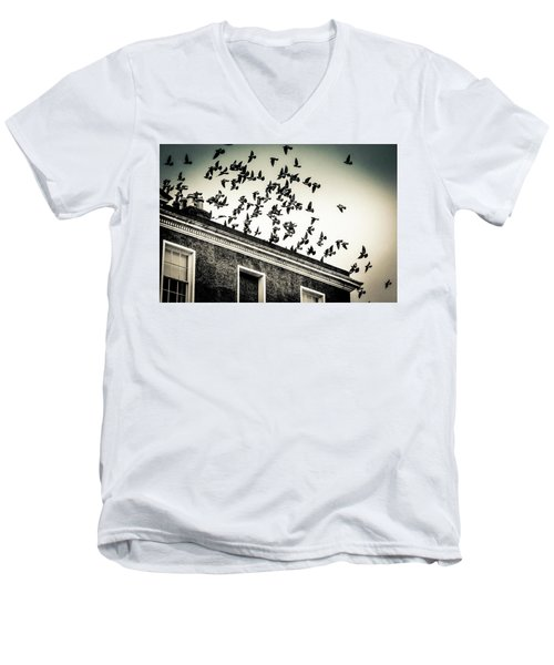 Flight Over Oscar Wilde's Hood, Dublin Men's V-Neck T-Shirt