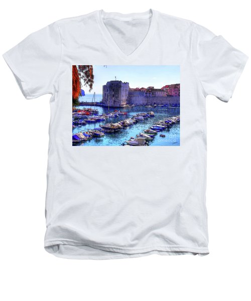 Dubrovnik Harbour Men's V-Neck T-Shirt