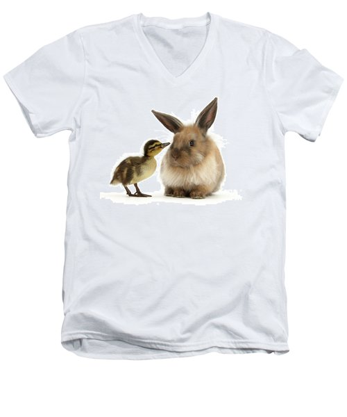 Duck Out Bunny Men's V-Neck T-Shirt