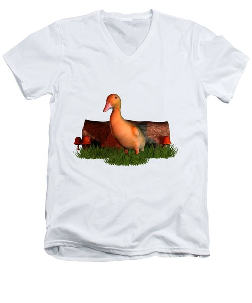 Duckling T Shirt Men's V-Neck T-Shirt