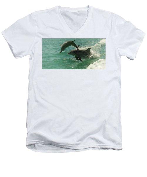 Duet Men's V-Neck T-Shirt by Cassandra Buckley