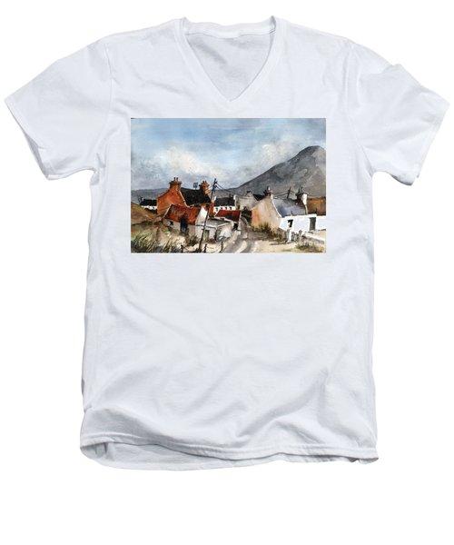 F 701  Dugort Clachan Achill Mayo Men's V-Neck T-Shirt