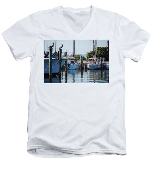 Duneden Fl. Men's V-Neck T-Shirt by Robert Meanor