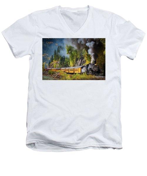 Durango-silverton Narrow Gauge Railroad Men's V-Neck T-Shirt