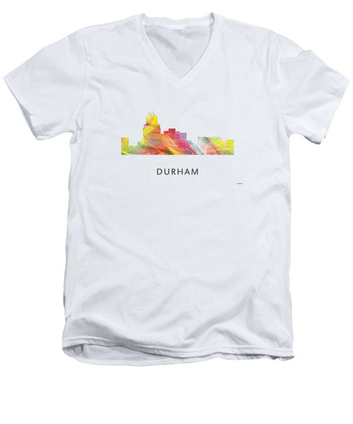 Durham North Carolina Skyline Men's V-Neck T-Shirt