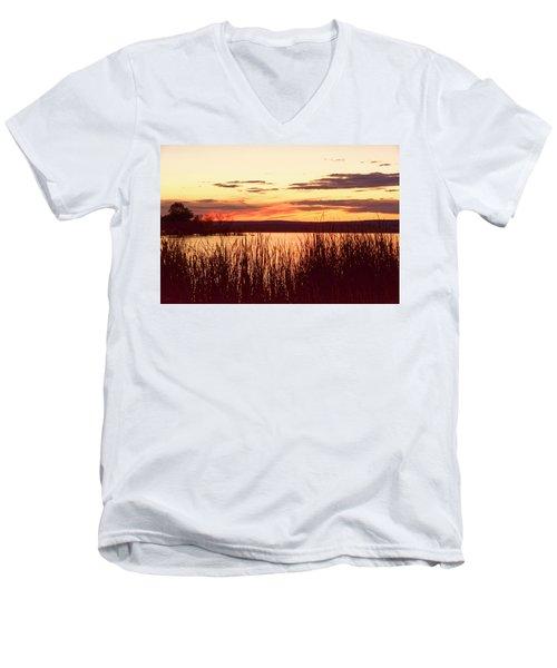 dusk on Lake Superior Men's V-Neck T-Shirt