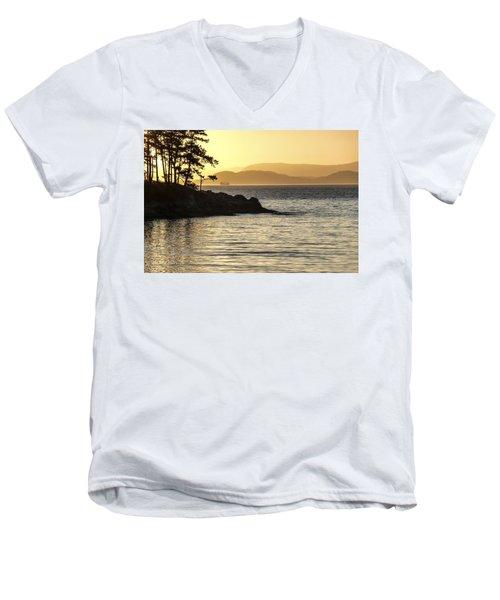Dusk On Sucia Island Men's V-Neck T-Shirt