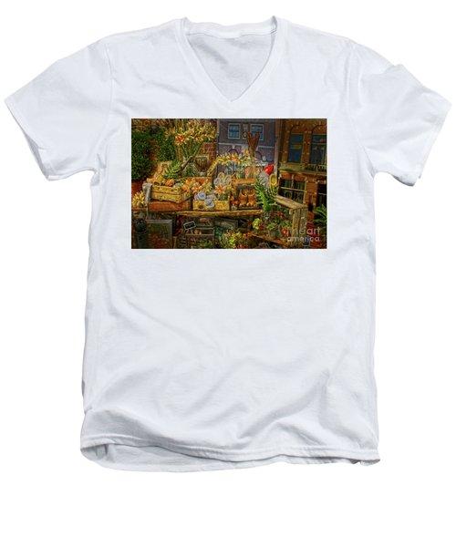 Dutch Shop Men's V-Neck T-Shirt by Sandy Moulder