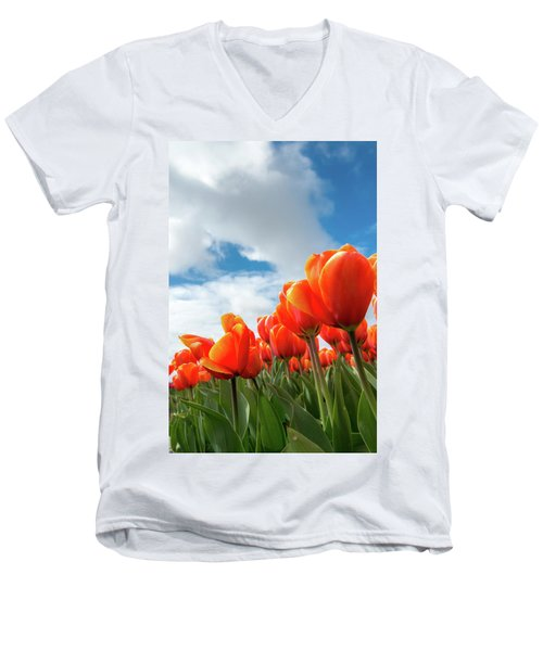 Dutch Tulips Near Keukenhof Men's V-Neck T-Shirt