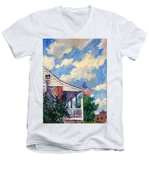 Dyckman House Nyc Men's V-Neck T-Shirt