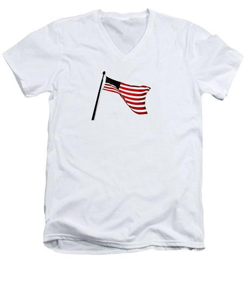 Dynamic Stars And Stripes Men's V-Neck T-Shirt