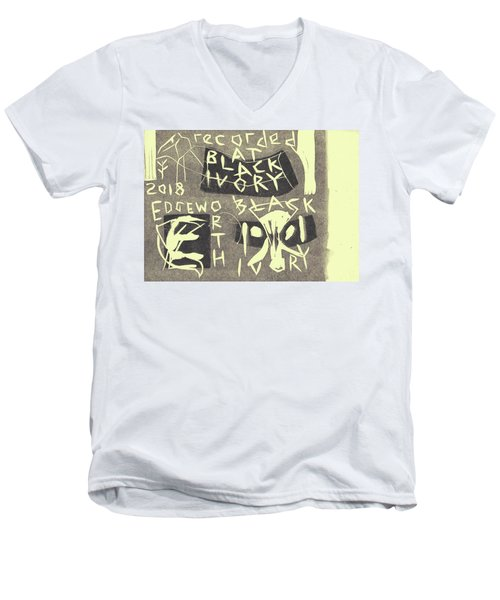 E Cd Grey Men's V-Neck T-Shirt