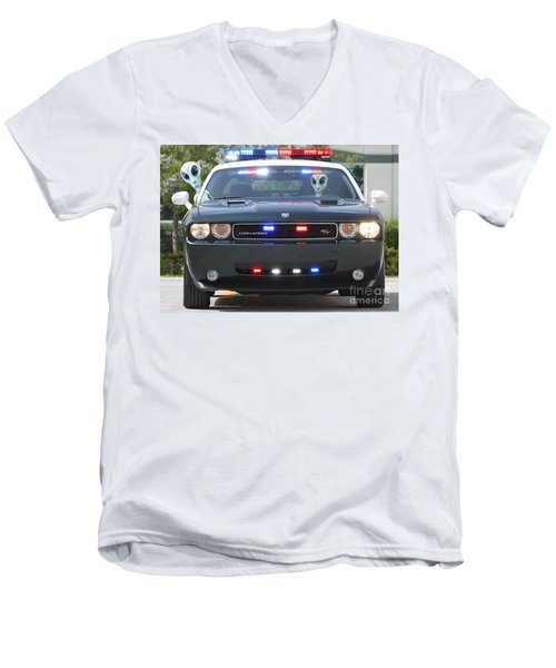 E T Cops Men's V-Neck T-Shirt
