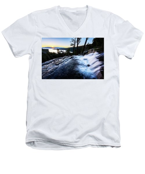 Eagle Falls At Emerald Bay Men's V-Neck T-Shirt