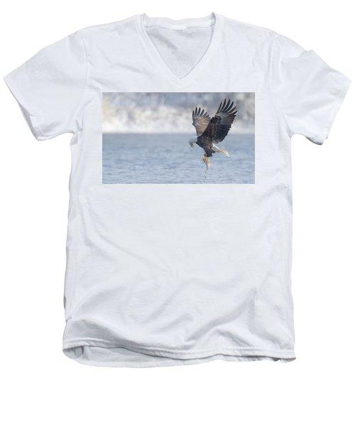 Eagle Fishing  Men's V-Neck T-Shirt