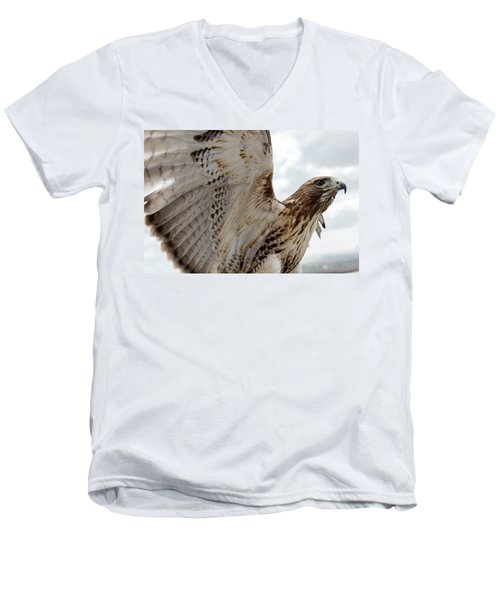 Eagle Going Hunting Men's V-Neck T-Shirt