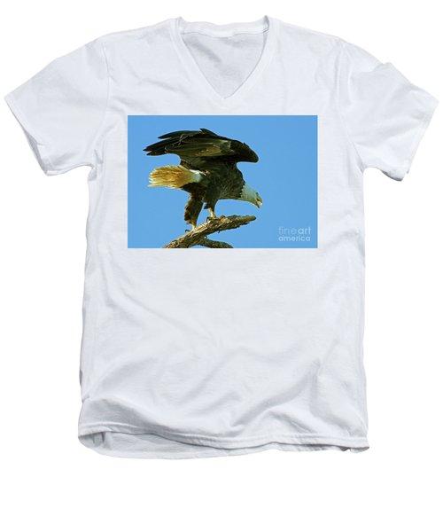 Eagle Mom, The Scolding Men's V-Neck T-Shirt