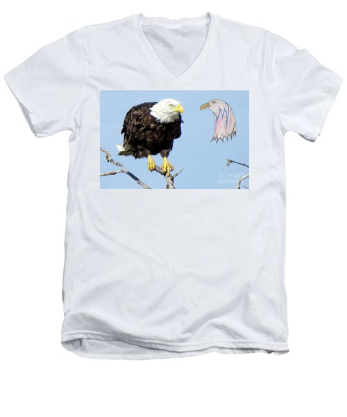 Eagle Reflection Men's V-Neck T-Shirt