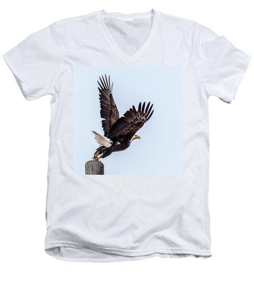 Eagle Taking Flight Men's V-Neck T-Shirt