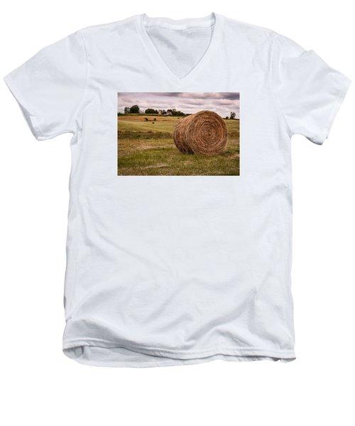 Early Autumn Men's V-Neck T-Shirt by Wayne King