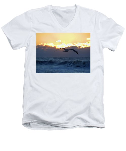 Early Bird Men's V-Neck T-Shirt by Newwwman