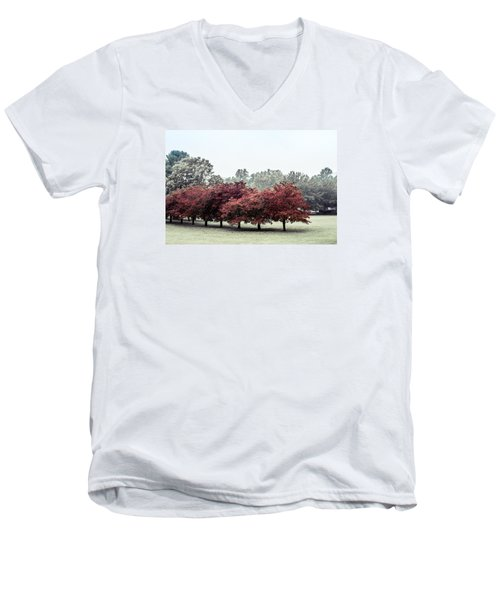 Men's V-Neck T-Shirt featuring the photograph Early Fall by Carlee Ojeda