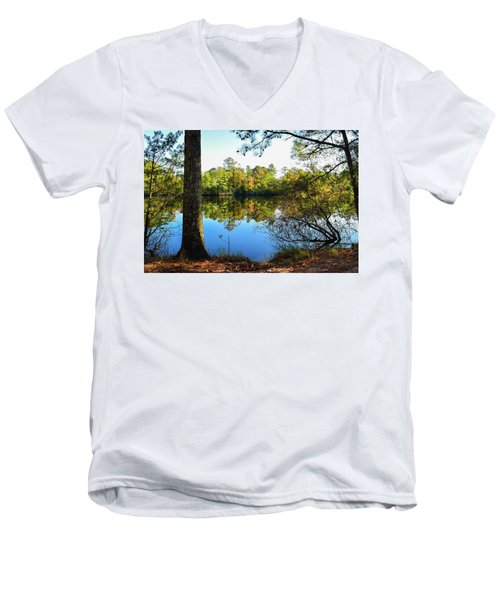 Early Fall Reflections Men's V-Neck T-Shirt