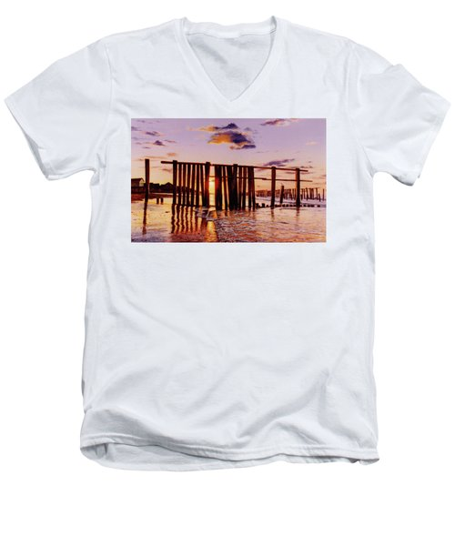 Early Morning Contrasts Men's V-Neck T-Shirt