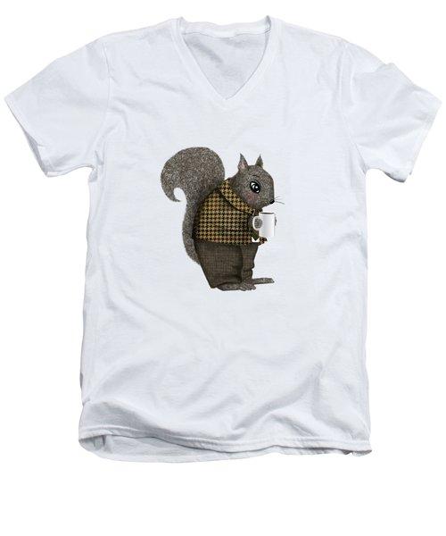 Early Morning For Mister Squirrel Men's V-Neck T-Shirt