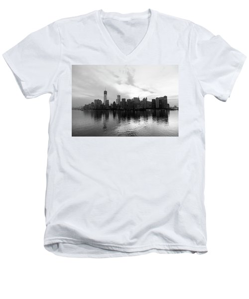 Early Morning In Manhattan Men's V-Neck T-Shirt
