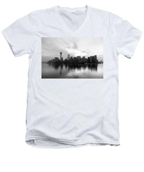 Early Morning In Manhattan Men's V-Neck T-Shirt