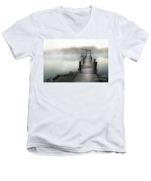 Yesterday's Early Morning Pier Men's V-Neck T-Shirt by Tamyra Ayles