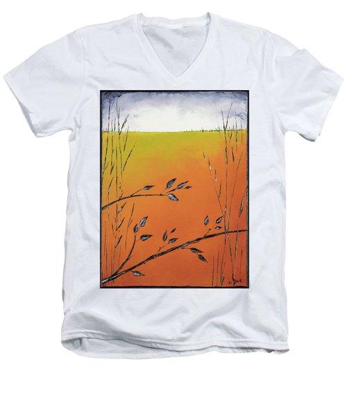 Early Spring  Men's V-Neck T-Shirt by Carolyn Doe