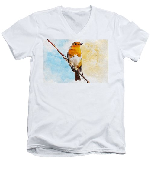 Early Spring Men's V-Neck T-Shirt by Greg Collins