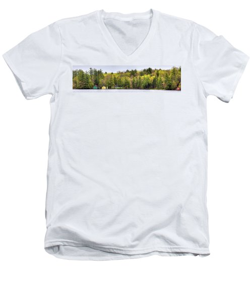 Early Spring Panorama Men's V-Neck T-Shirt by David Patterson