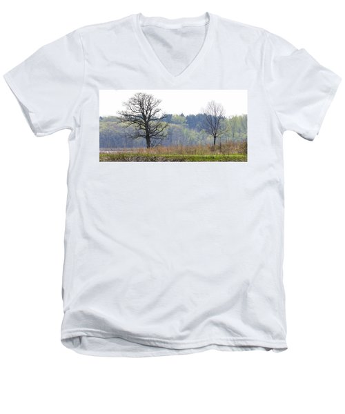 Early Spring Silhouettes  Men's V-Neck T-Shirt