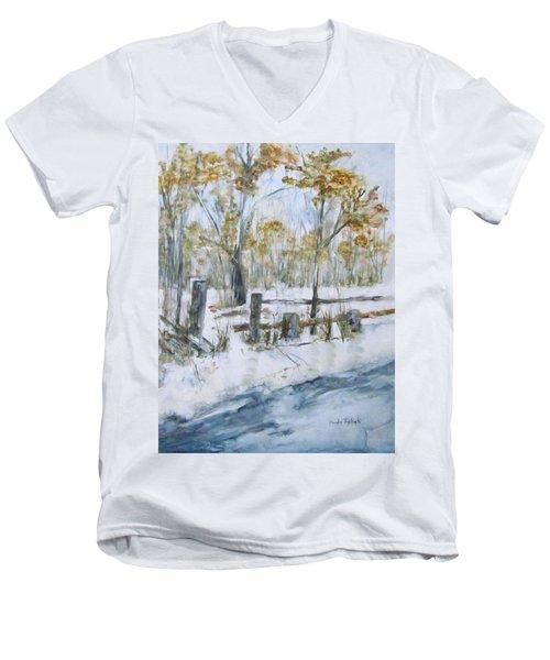 Early Spring Snow Men's V-Neck T-Shirt